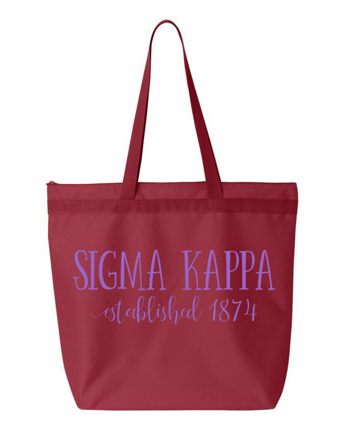 Sigma Kappa Established Tote bag
