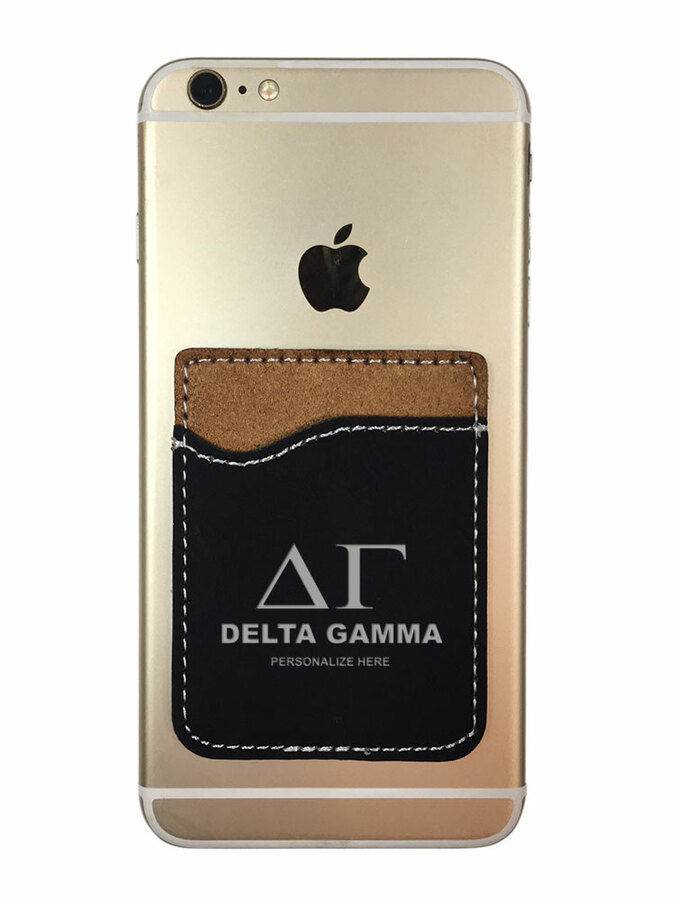 Delta Gamma Leatherette Phone Wallet