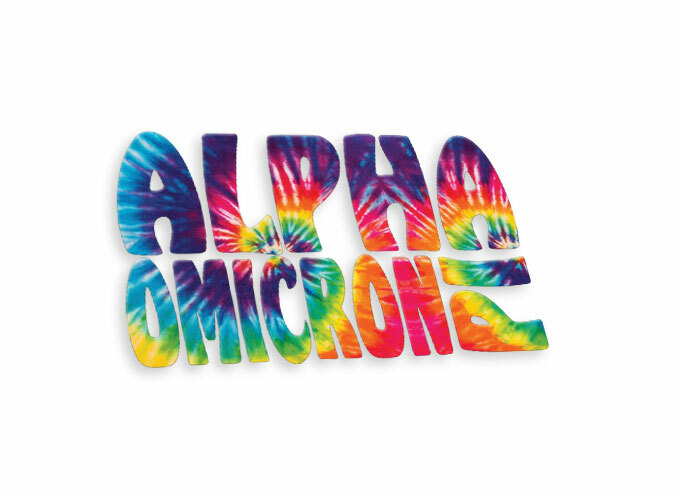 Alpha Omicron Pi Tie-Dye Stack Sticker