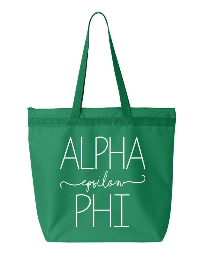Alpha Epsilon Phi New Handwriting Tote Bag