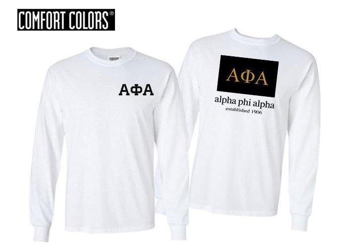 Alpha Phi Alpha Flag Long Sleeve T-shirt - Comfort Colors