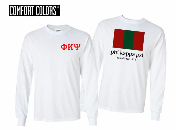 Phi Kappa Psi Flag Long Sleeve T-shirt - Comfort Colors