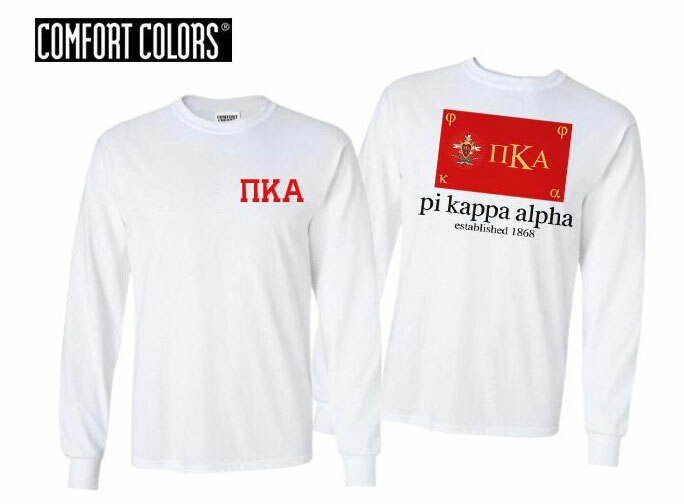 Pi Kappa Alpha Flag Long Sleeve T-shirt - Comfort Colors