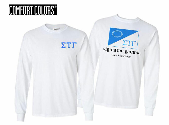 Sigma Tau Gamma Flag Long Sleeve T-shirt - Comfort Colors