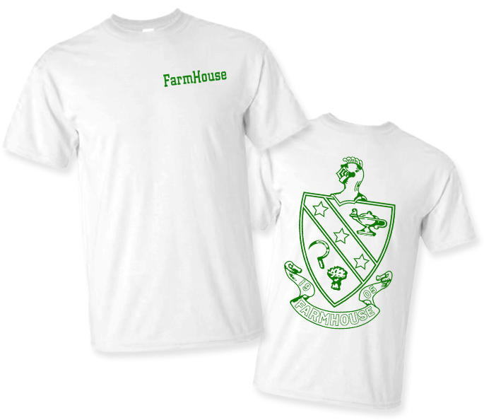 FarmHouse Fraternity World Famous Crest - Shield Tee