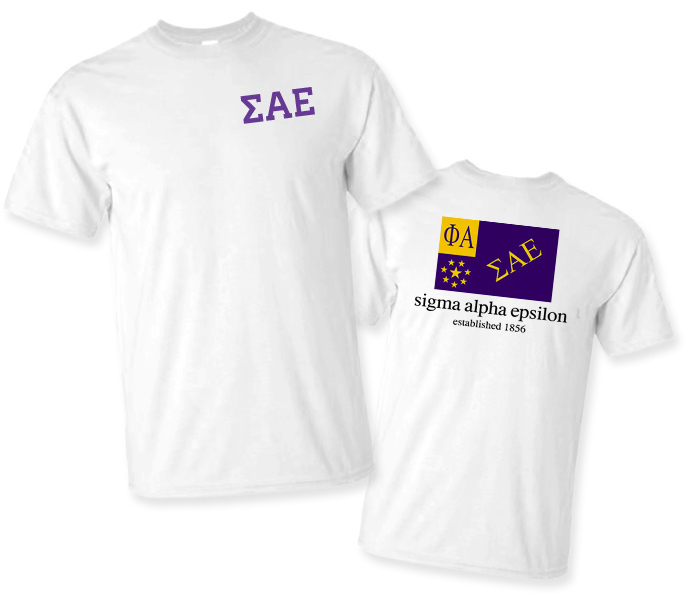 Sigma Alpha Epsilon Flag T-Shirt