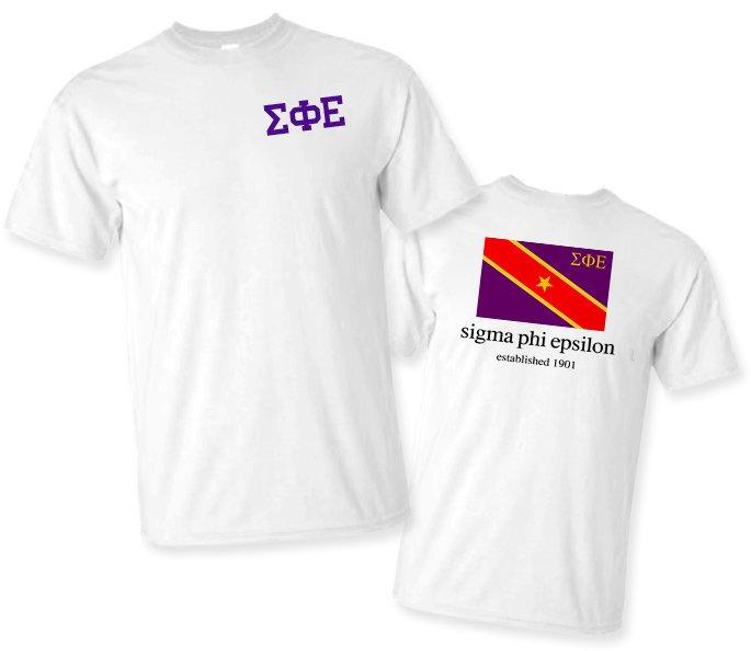 Sigma Phi Epsilon Comfort Colors T-Shirt Sig Ep Red Whale Shirt