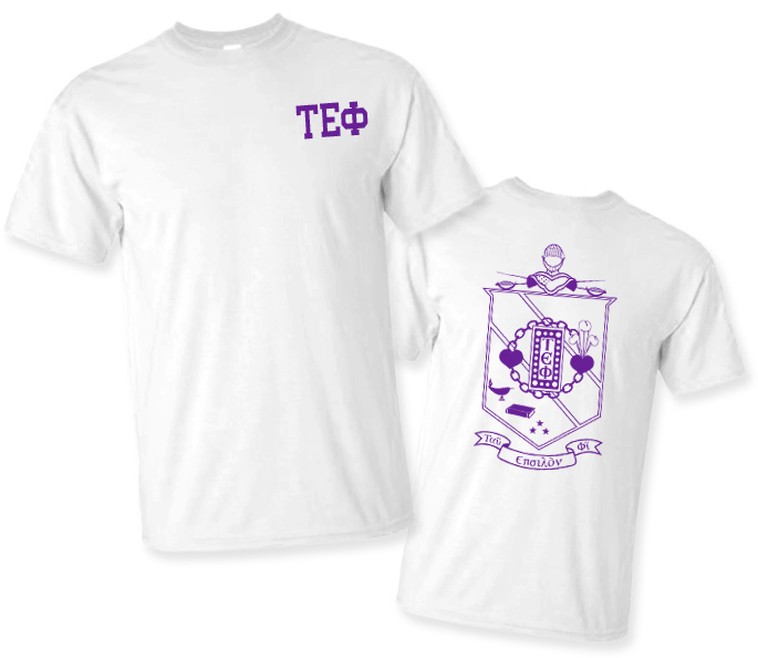 Tau Epsilon Phi World Famous Crest - Shield Tee