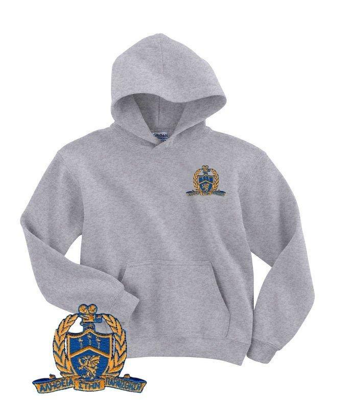 DISCOUNT-Delta Kappa Alpha Emblem Emblem Hooded Sweatshirt