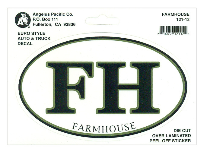 FarmHouse Fraternity Euro Decal Oval Sticker