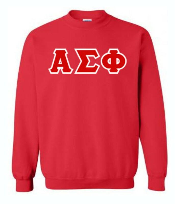 Alpha Sigma Phi Lettered Crewneck Sweatshirt