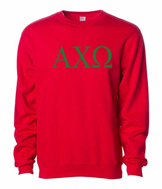 Alpha Chi Omega Lettered World Famous Greek Crewneck