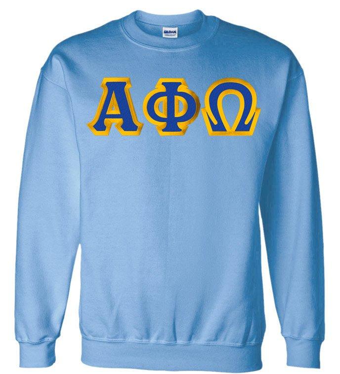 $25 Alpha Phi Omega Custom Twill Crewneck Sweatshirt