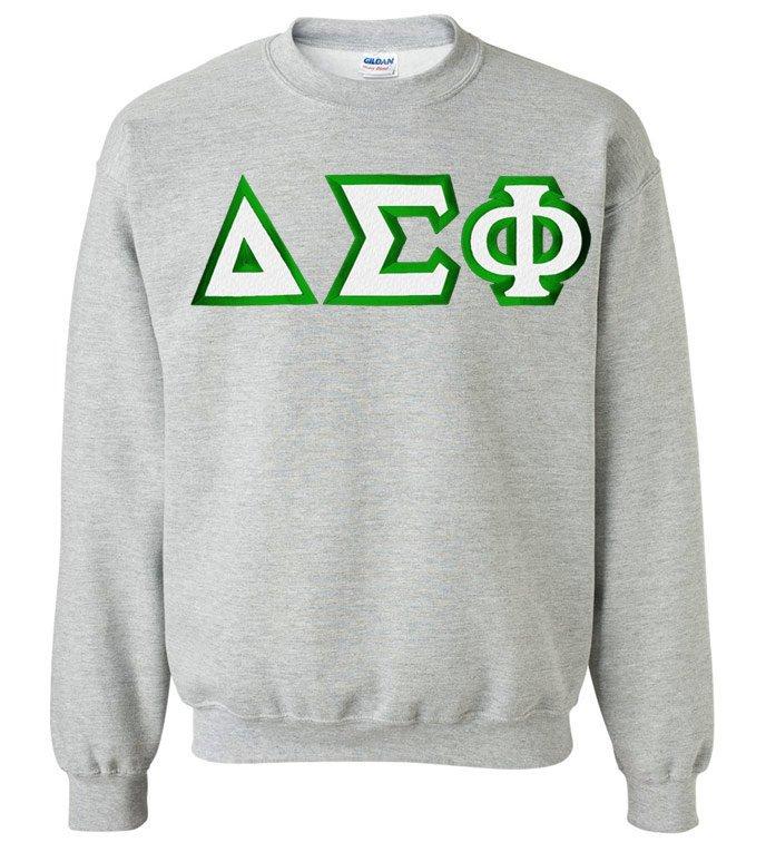 $29.99 Delta Sigma Phi Custom Twill Crewneck Sweatshirt