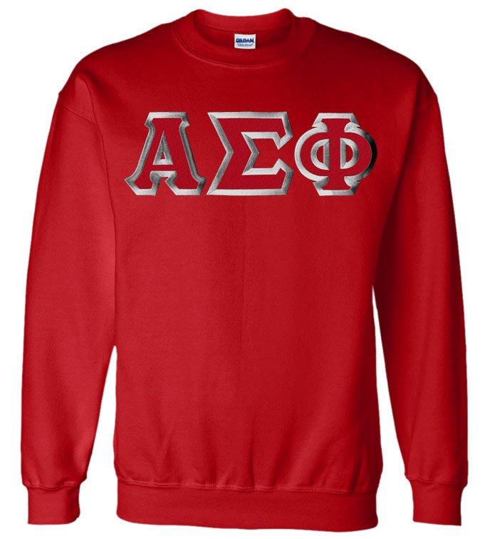 Alpha Sigma Phi Custom Twill Crewneck Sweatshirt