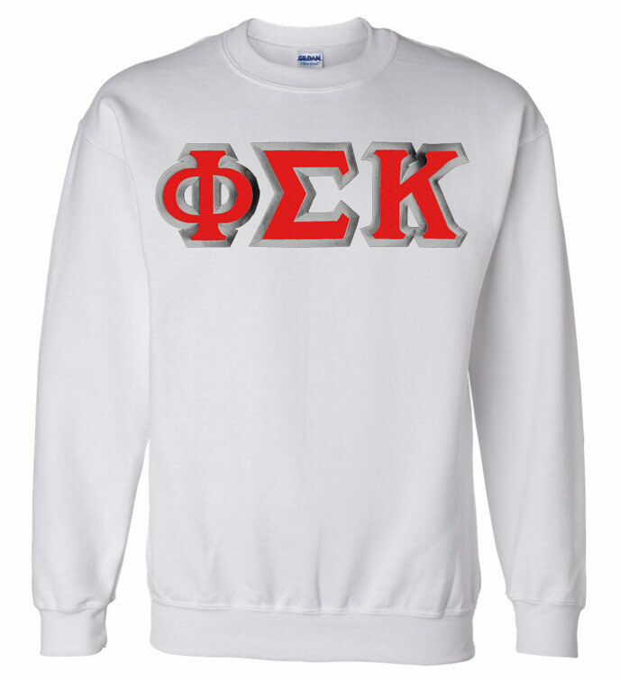 Phi Sigma Kappa Custom Twill Crewneck Sweatshirt