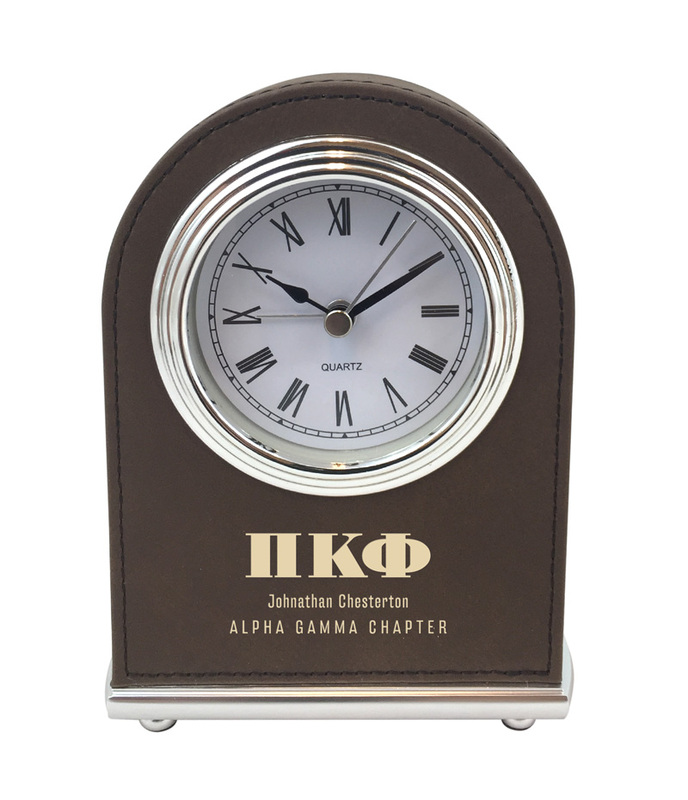 Elegant Arch Fraternity Desk Clock