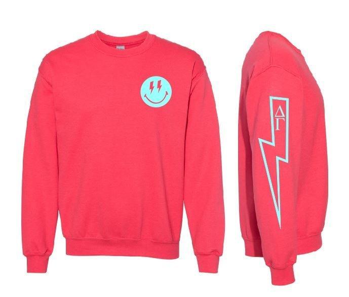 Comfort Colors Sorority Lightning Crew Sweatshirt