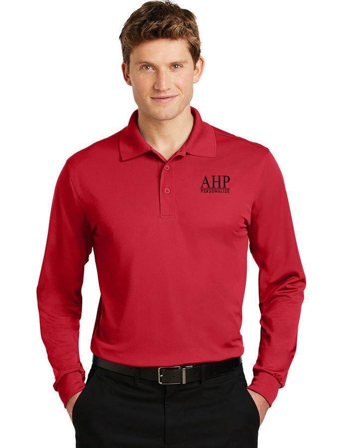 Alpha Eta Rho- $35 World Famous Long Sleeve Dry Fit Polo