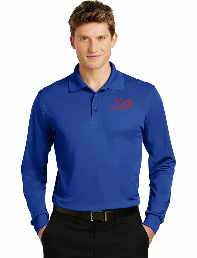 Chi Phi- $30 World Famous Long Sleeve Dry Fit Polo