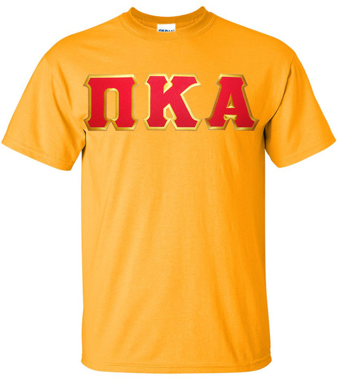 DISCOUNT Pi Kappa Alpha Lettered T-shirt