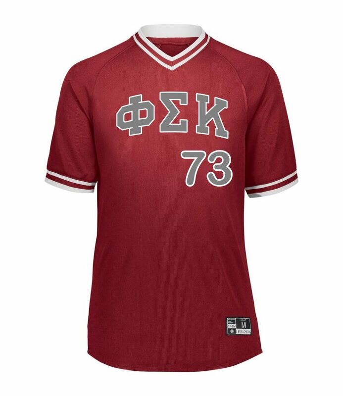 Phi Sigma Kappa Retro V-Neck Baseball Jersey