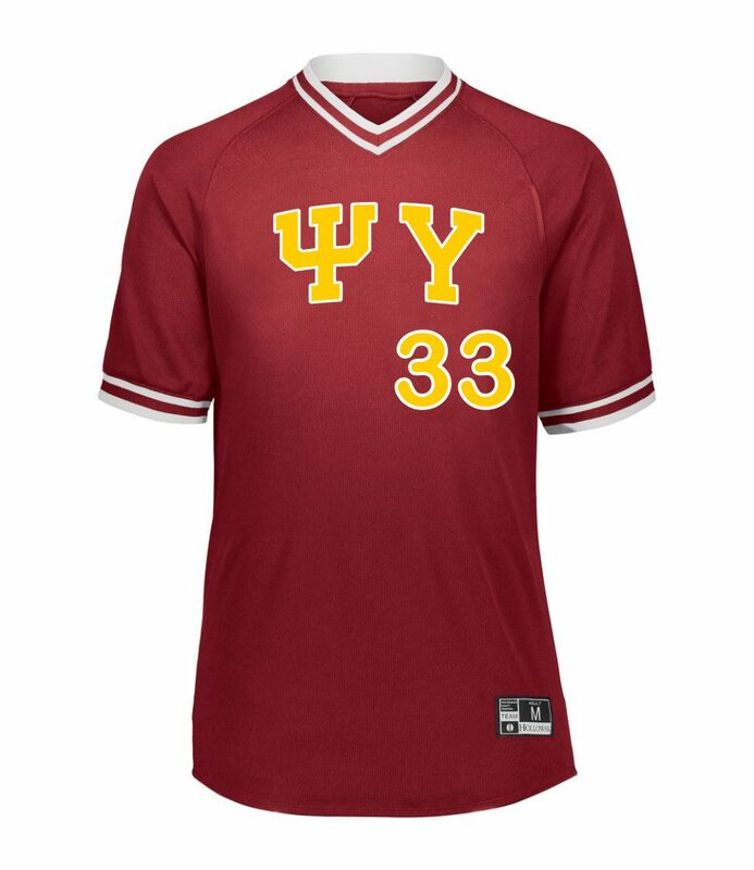 Psi Upsilon Retro V-Neck Baseball Jersey