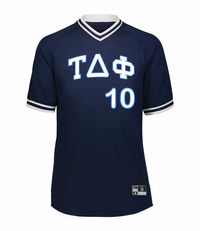 Tau Delta Phi Retro V-Neck Baseball Jersey