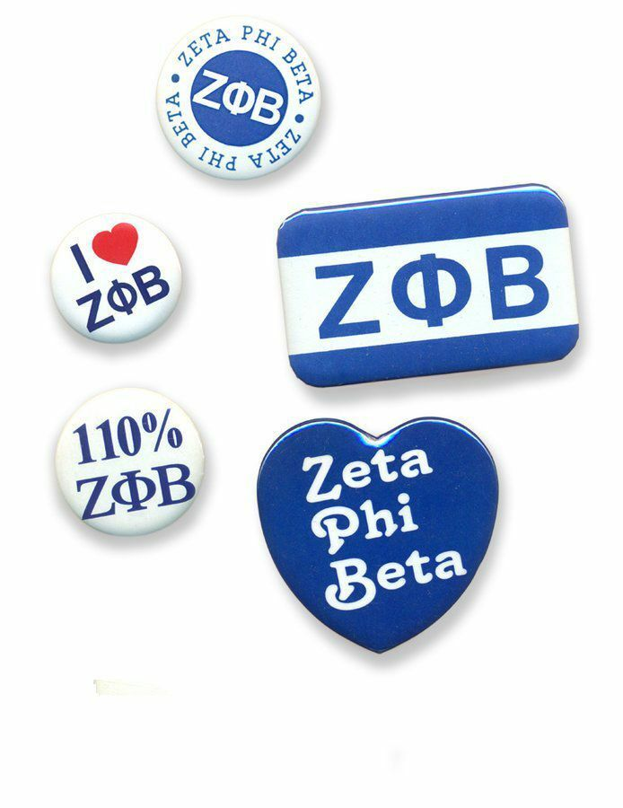 Zeta Phi Beta Sorority Buttons 5-Pack