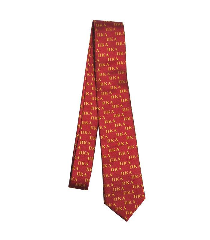 Fraternity Lettered Woven Necktie