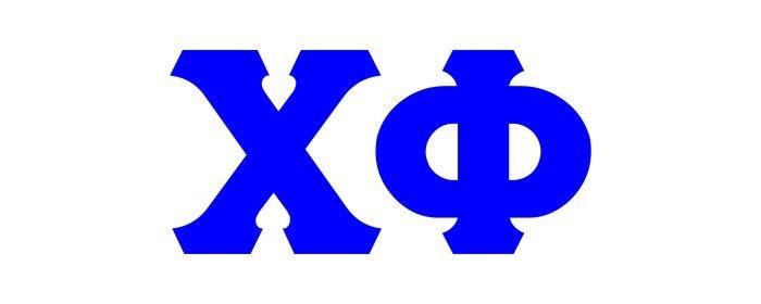 Chi Phi Big Greek Letter Window Sticker Decal