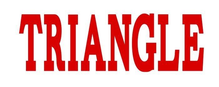 Triangle Big Greek Letter Window Sticker Decal
