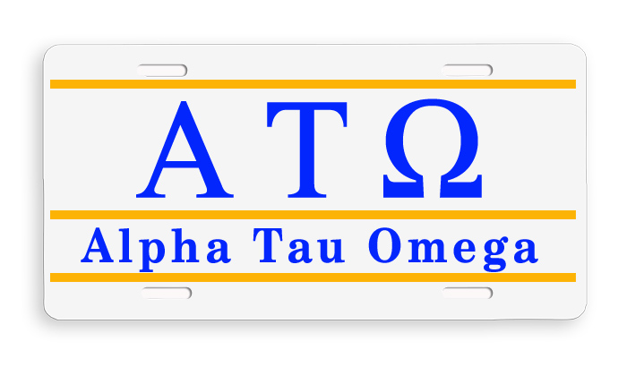 Greek Line License Plate Cover