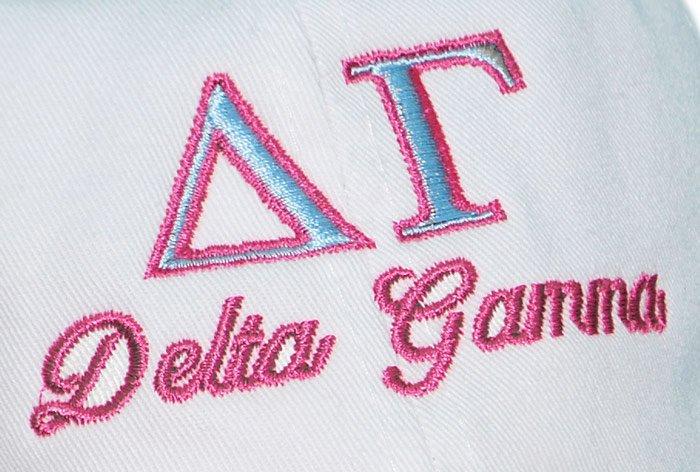 Delta Gamma Script Hat