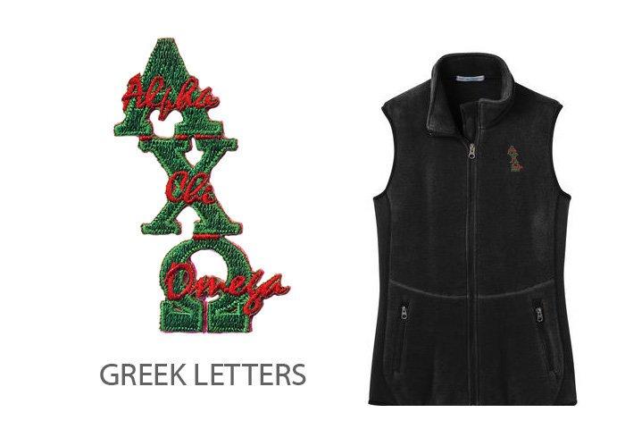 DISCOUNT-Alpha Chi Omega Crest - Shield Patch Ladies Pro Fleece Full-Zip Vest
