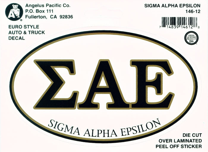 Sigma Alpha Epsilon Euro Decal