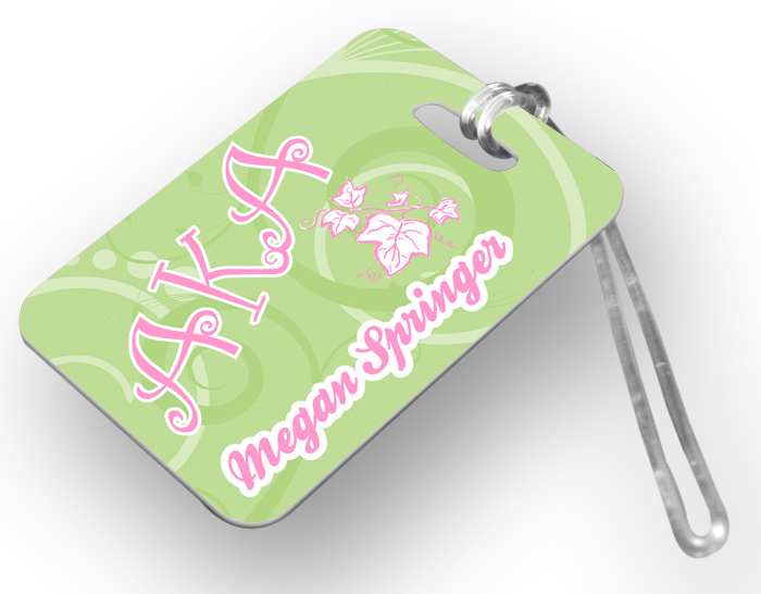 Alpha Kappa Alpha Luggage Tags