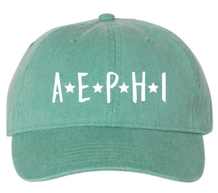 Alpha Epsilon Phi Starry Night Pigment Dyed Baseball Cap