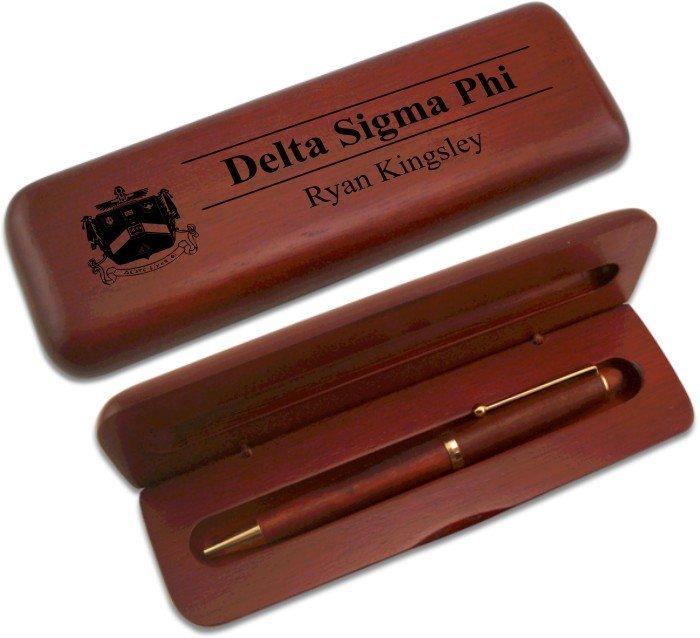 Delta Sigma Phi Wooden Pen Set