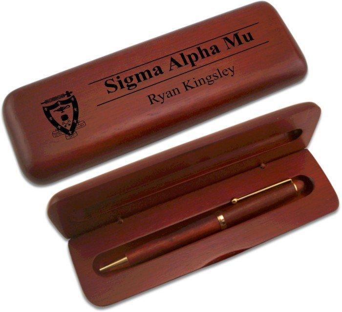 Sigma Alpha Mu Wooden Pen Set