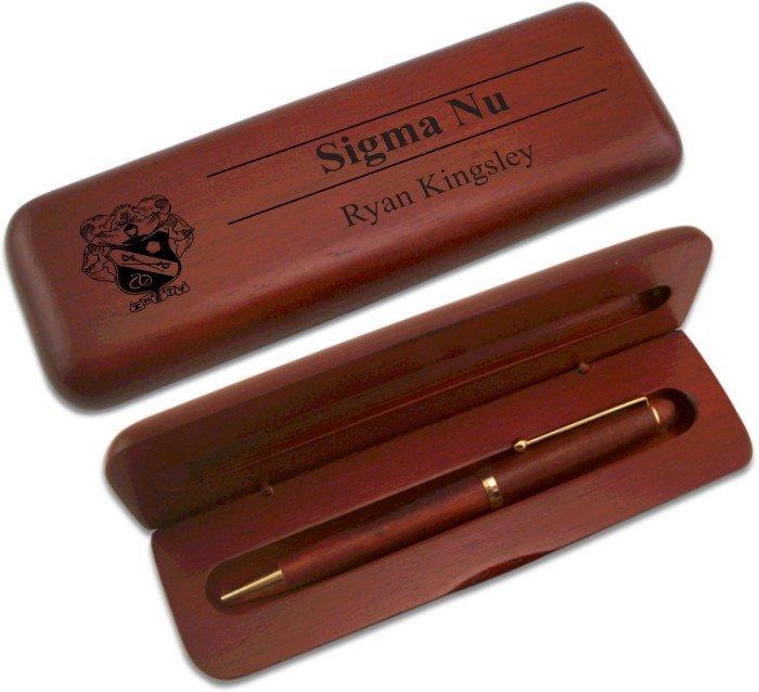 Sigma Nu Wooden Pen Set