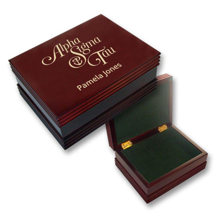 Alpha Sigma Tau Mascot Keepsake Box