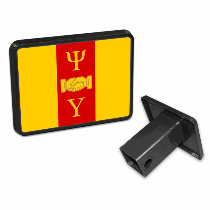 Psi Upsilon Flag Trailer Hitch Cover