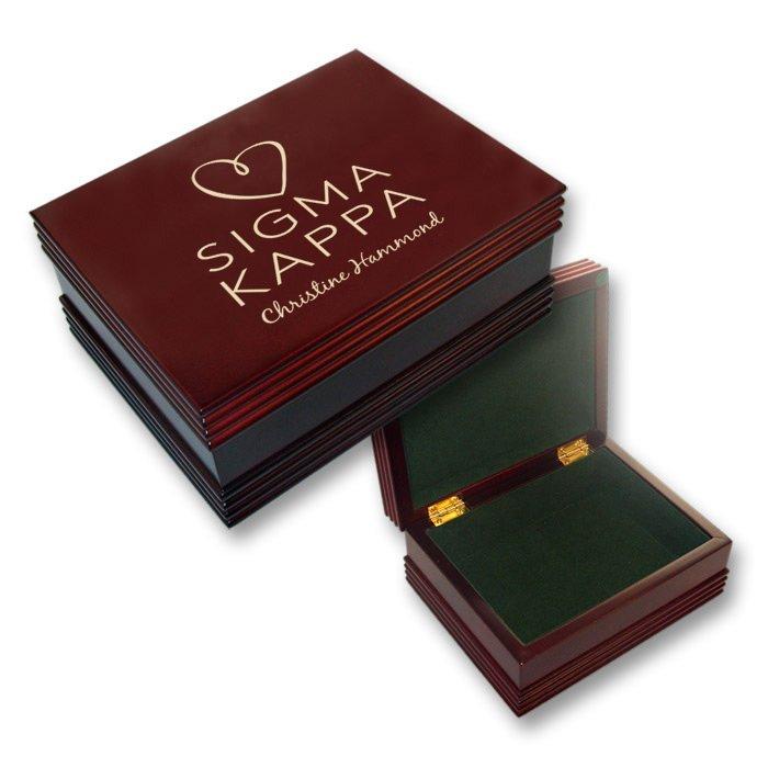 Sigma Kappa Mascot Keepsake Box