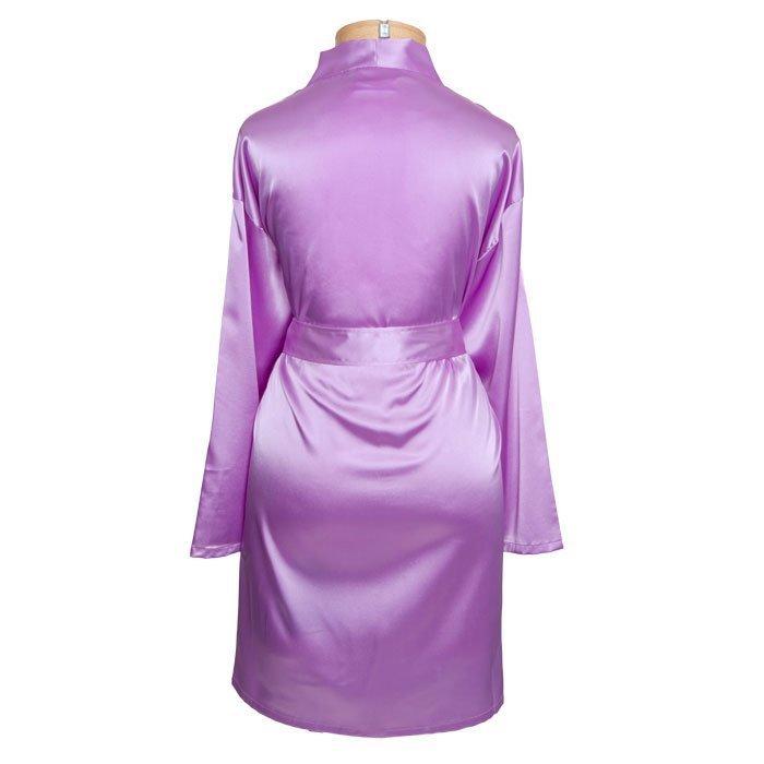 Sorority Short Satin Robe