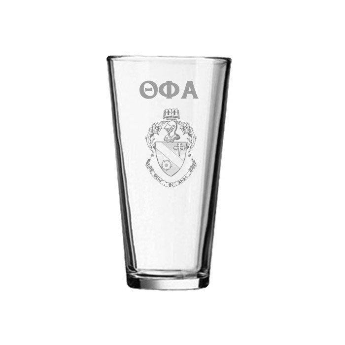 Theta Phi Alpha Mixing Glass
