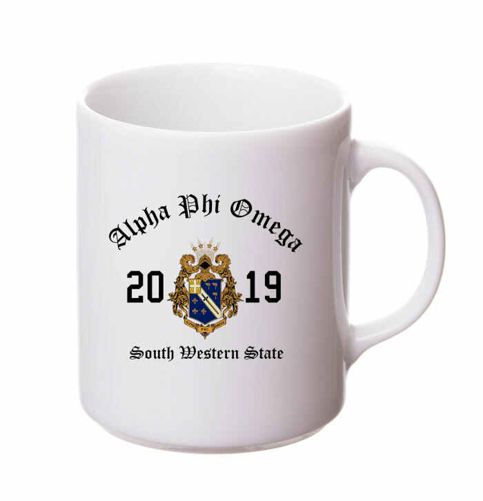 Alpha Phi Omega Crest & Year Ceramic Mug