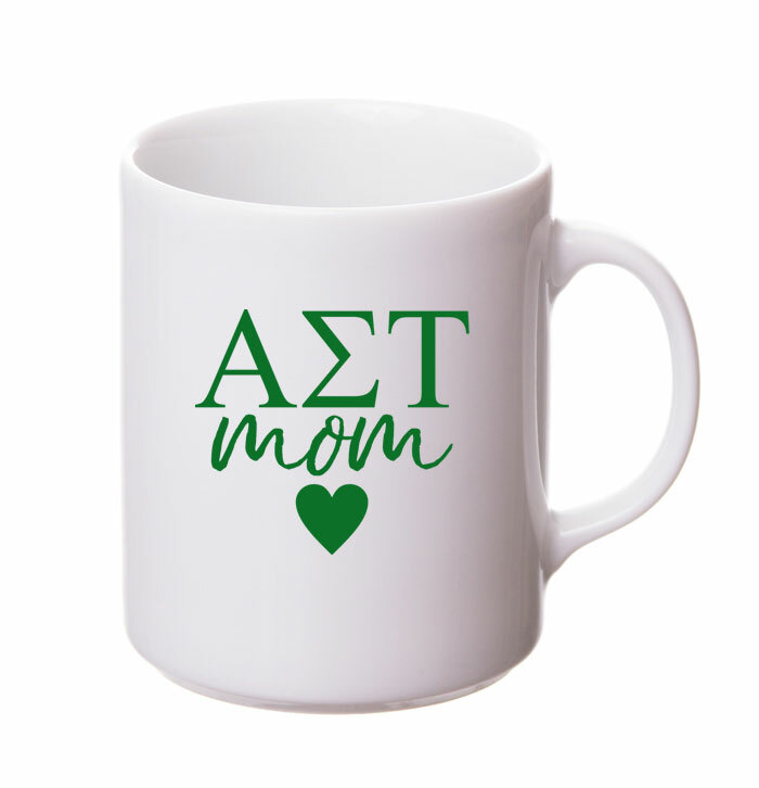 Alpha Sigma Tau White Personalized Coffee Mug