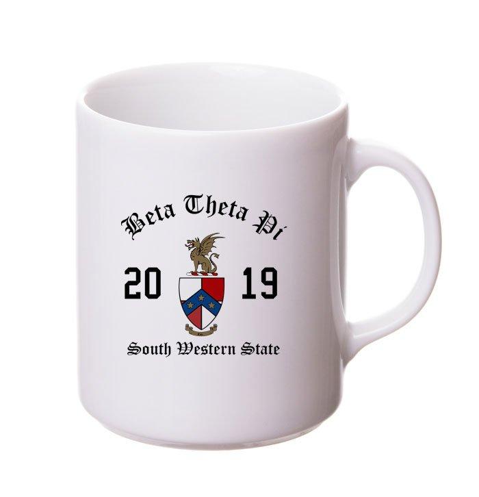 Beta Theta Pi Crest & Year Ceramic Mug