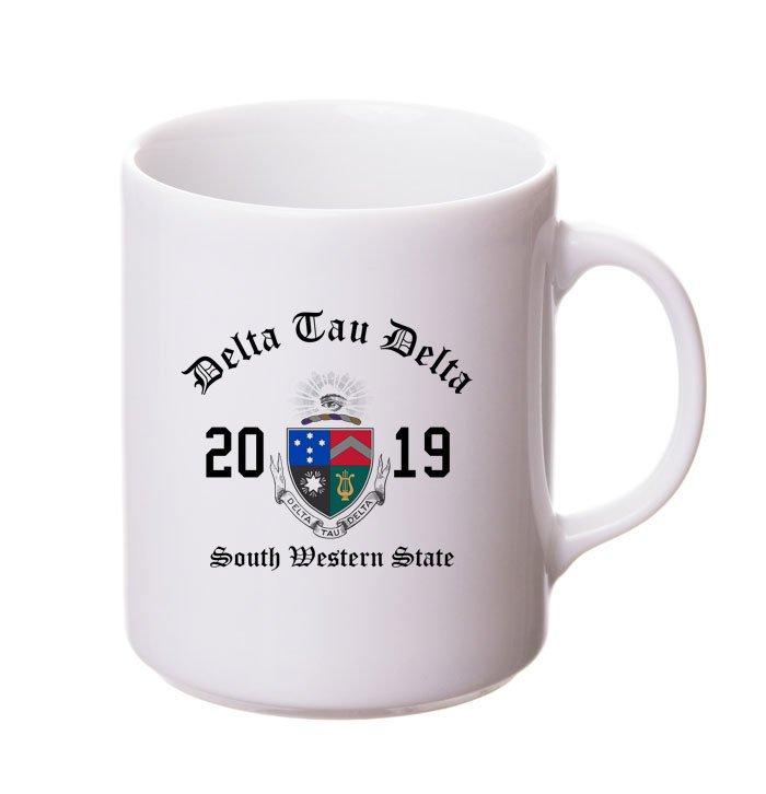 Delta Tau Delta Crest & Year Ceramic Mug